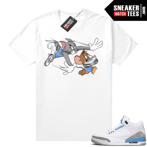 Jordan match shirts UNC 3s Finesse