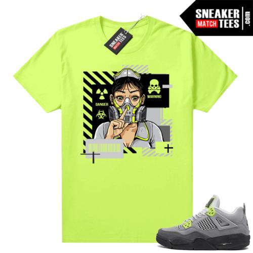 Jordan sneaker tees match Neon 4s Air Max 95 Neon Quarantine