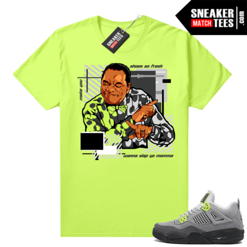 Jordan sneaker tees shirts Neon 4s Air Max 95 Volt Shoes So Fresh