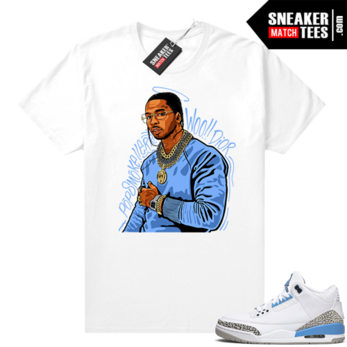 Jordan tees UNC 3 Pop Smoke Tribute