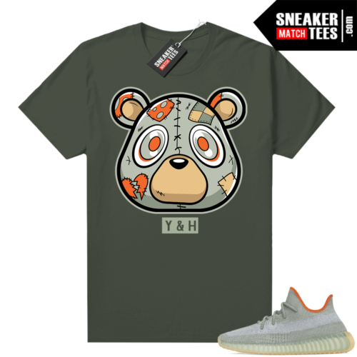 Match Desert Sage Yeezys Heartless Bear shirt Olive