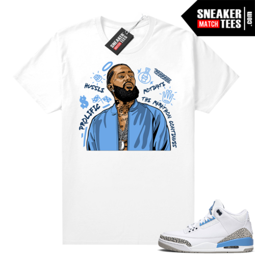 Match UNC 3s Jordan shirts Nipsey Tribute