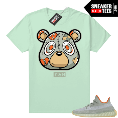 Match Yeezy Desert Sage 350 shirt Heartless Bear Mint