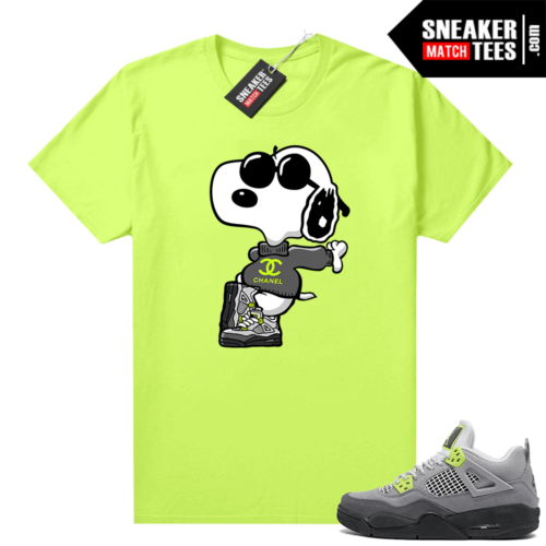 Neon 4s Air Max 95 Jordan T-shirt match Volt Fly Snoopy
