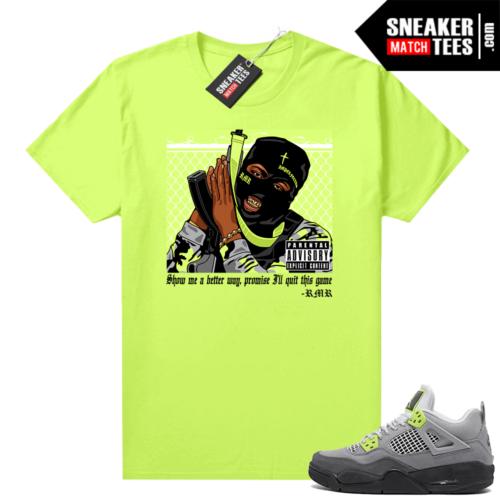 Neon 4s Air Max 95 Jordan sneaker shirts RMR