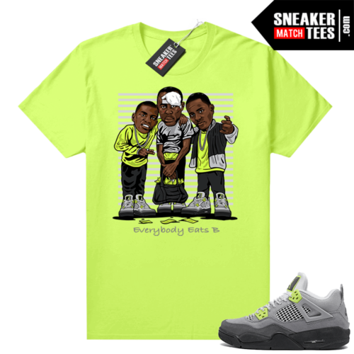 Neon 4s Air Max 95 Jordan t-shirt outfit Everybody Eats B