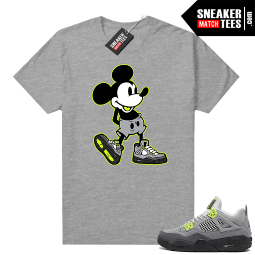 Neon 4s Air Max 95 matching Sneaker shirt Neon Sneakerhead Mickey
