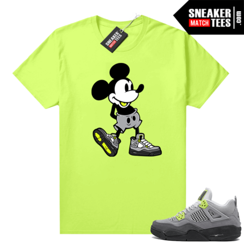Neon 4s Air Max 95 matching shirt Neon Sneakerhead Mickey