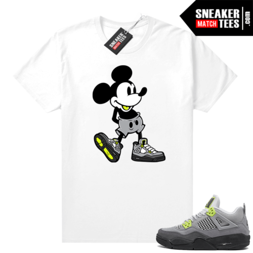 Neon 4s Air Max 95 matching shirt outfit White Sneakerhead Mickey