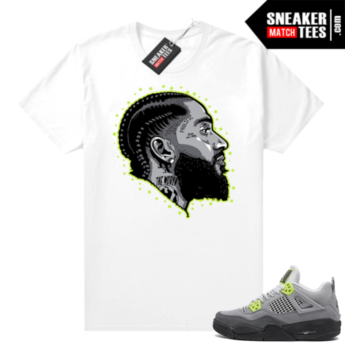 Neon 4s Air Max 95 shirt outfit White Prolific