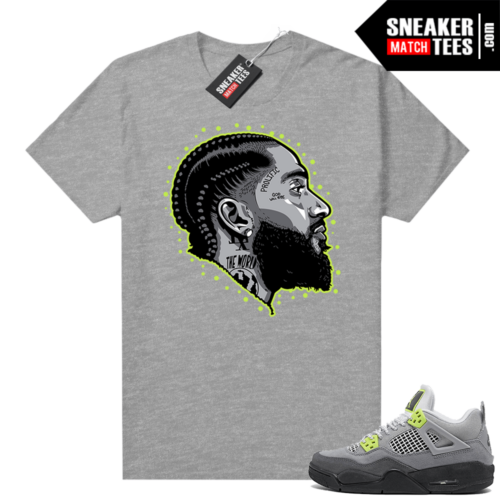 Neon 4s Air Max 95 shirts Heather Grey Prolific