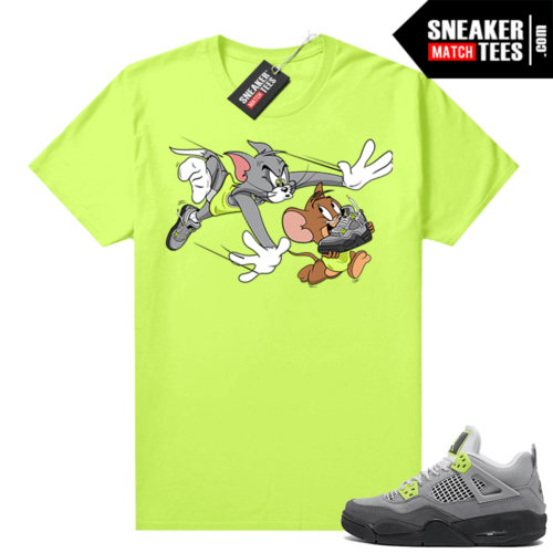 Neon 4s Air Max 95 shirts to match Jordans Finesse