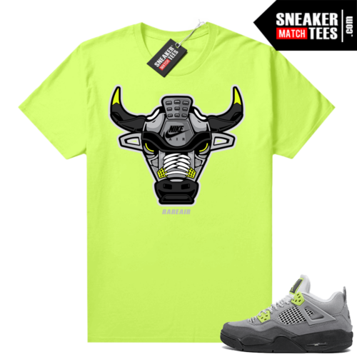 Neon 4s Air Max 95 shirts to match Jordans Rare Air Bull