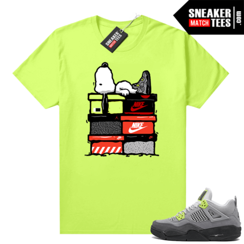 Neon 4s Air Max 95 shirts to match Jordans Sneakerhead Snoopy
