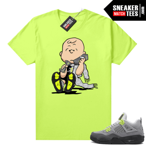 Neon 4s Air Max 95 shirts to match Volt Designer Charlie