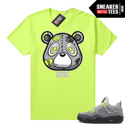 Neon 4s Air Max 95 sneaker tees shirts Volt Heartless bear