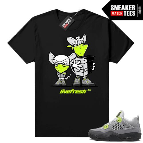 Neon 95 Jordan 4 shirt outfit black Sneaker Heist
