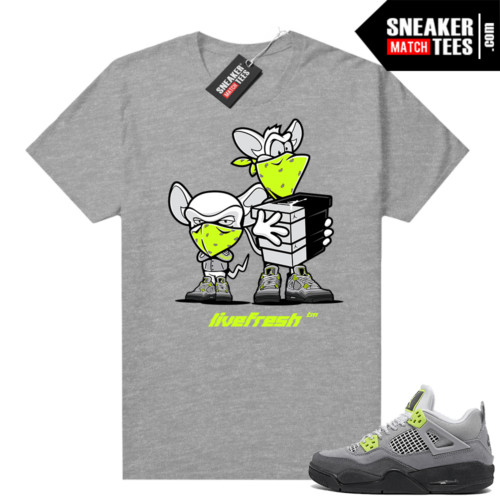Neon 95 Jordan 4 shirts Heather Grey Sneaker Heist