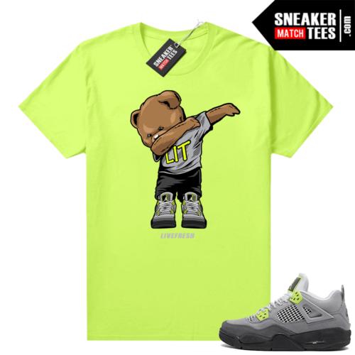 Neon 95 Jordan 4 sneaker shirts
