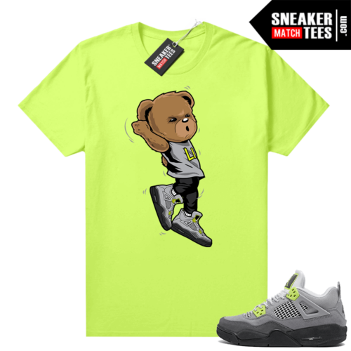 Neon 95 Jordan 4 shirts Volt Shootin Bear