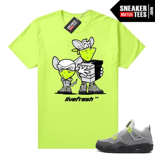 Neon 95 Jordan 4 sneaker shirt Neon Sneaker Heist
