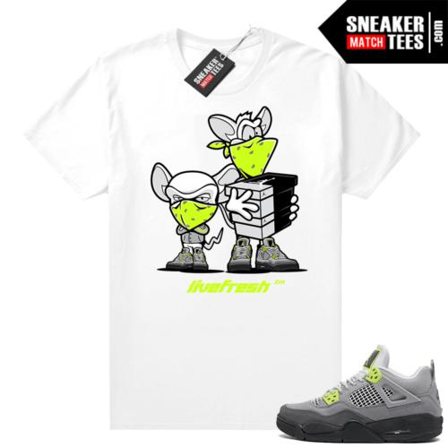 Neon 95 Jordan 4 sneaker tees White Sneaker Heist