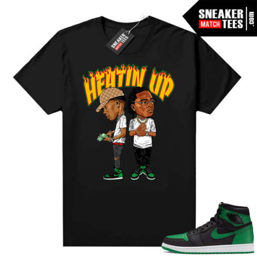 Pine Green 1s shirt Black Heatin Up