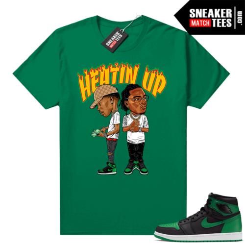 Pine Green 1s shirt Green Heatin Up