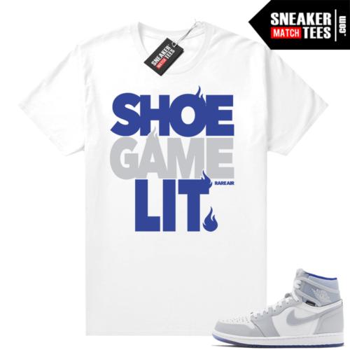 Racer Blue 1s sneaker tees shirt Shoe Game Lit