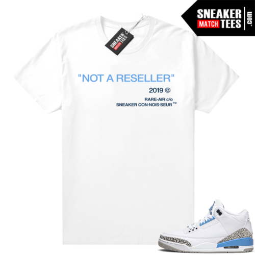 Retro 3 Jordan shirt match Not A Reseller