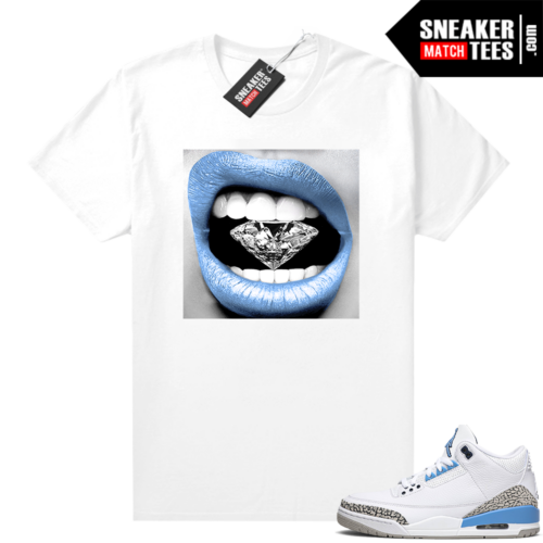 Shirts for Jordans UNC 3 Diamond Lips