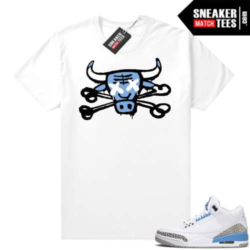 Shirts that match Jordans UNC 3 Bully Bones