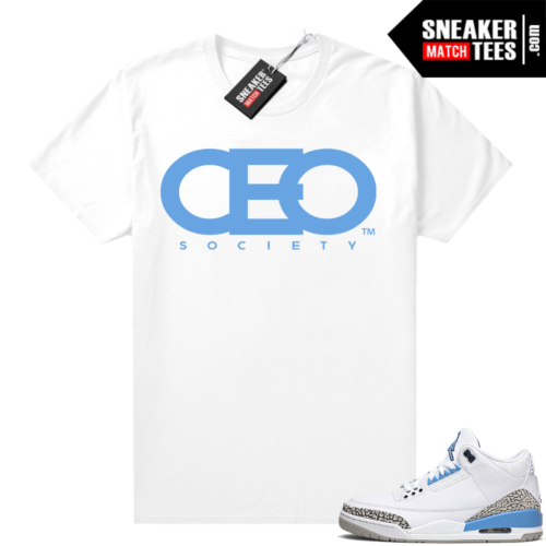 Shirts to match Jordans UNC 3s CEO Society