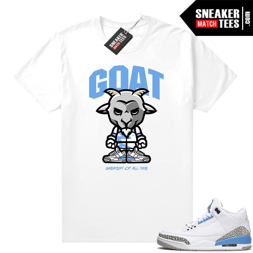 Shirts to match Jordans UNC 3s GOAT