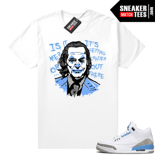Shirts to match sneakers UNC 3s Joker