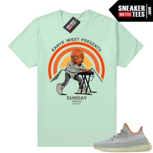 Sneaker shirt Yeezy 350 Desert Sage Mint Sunday Service Wyoming