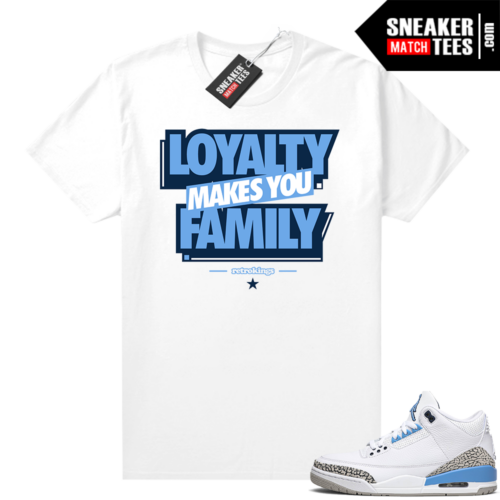 Sneaker tees UNC 3s Loyalty