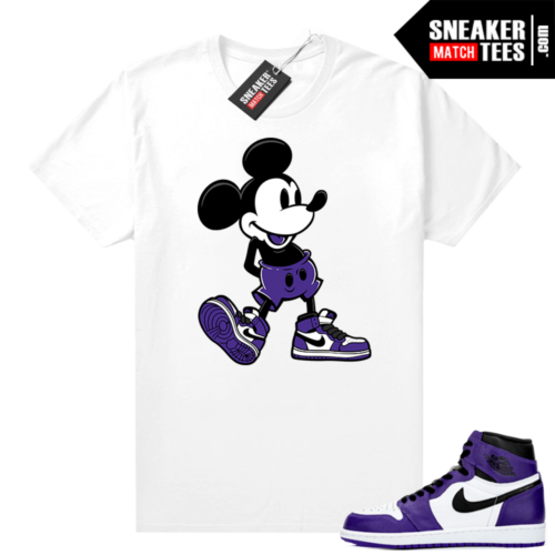 Sneaker-tees-shirts-Court-Purple-1s-2-0-White-Sneakerhead-Mickey