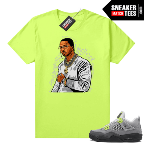 Sneakers Outfit Neon 4s Air Max 95 shirt Pop Smoke