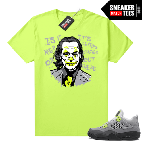 Sneakers Outfit Neon 4s Jordan sneaker tee Volt Joker