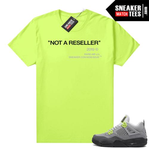 Sneakers Outfit Neon 4s Jordan t-shirt match Volt Not A Reseller