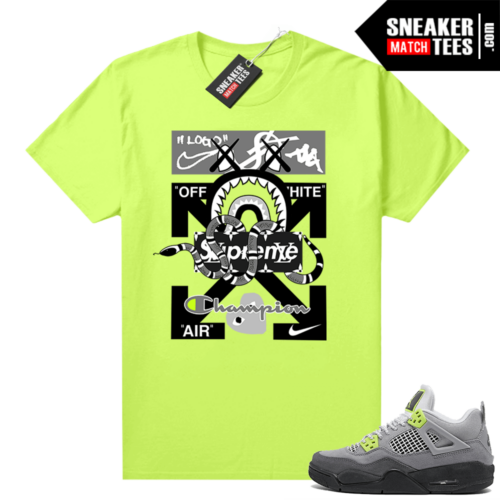 Sneakers Outfit Neon 4s sneaker tees Volt Designer Mashup