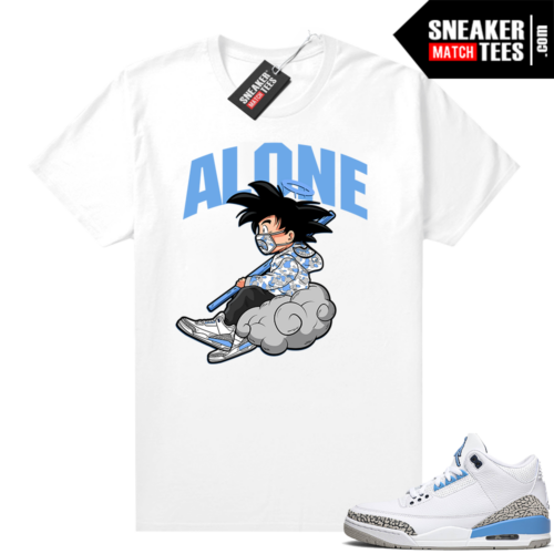 T-shirts to match Jordans UNC 3 Alone