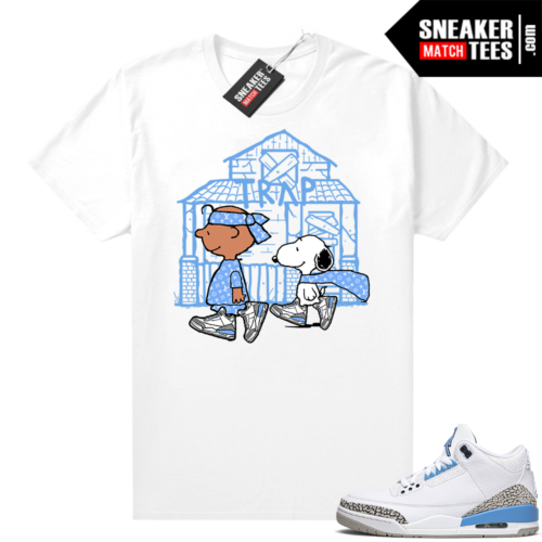 Tees to match Jordans UNC 3s Snoopy Trap House