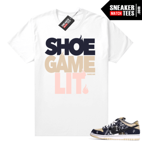 Travis Scott Nike SB Dunk Shirt Shoe Game Lit