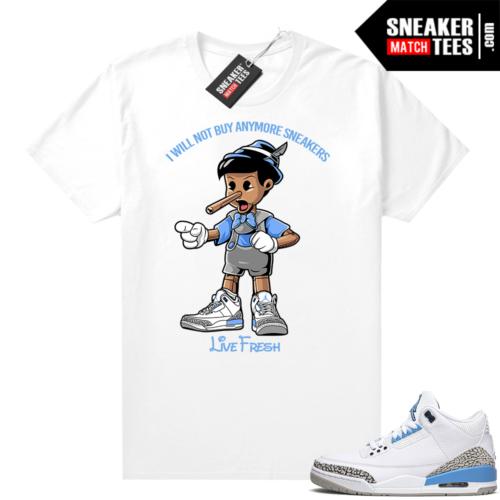 UNC 3 Jordan shirt Sneaker Head Pinocchio