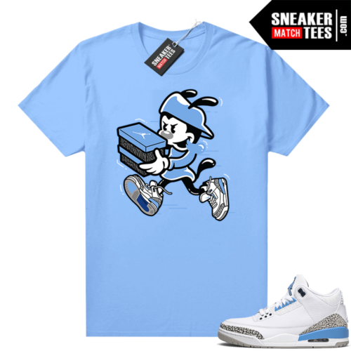 UNC 3s shirt match Carolina Blue Double Up