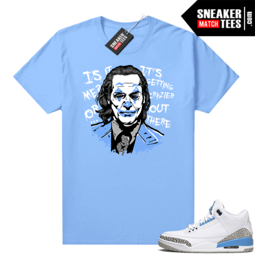 UNC 3s shirt match Carolina Blue Joker