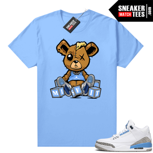 UNC 3s shirt match Carolina Blue Misfit Teddy
