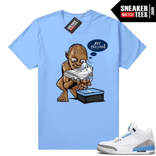 UNC 3s shirt match Carolina Blue My Precious